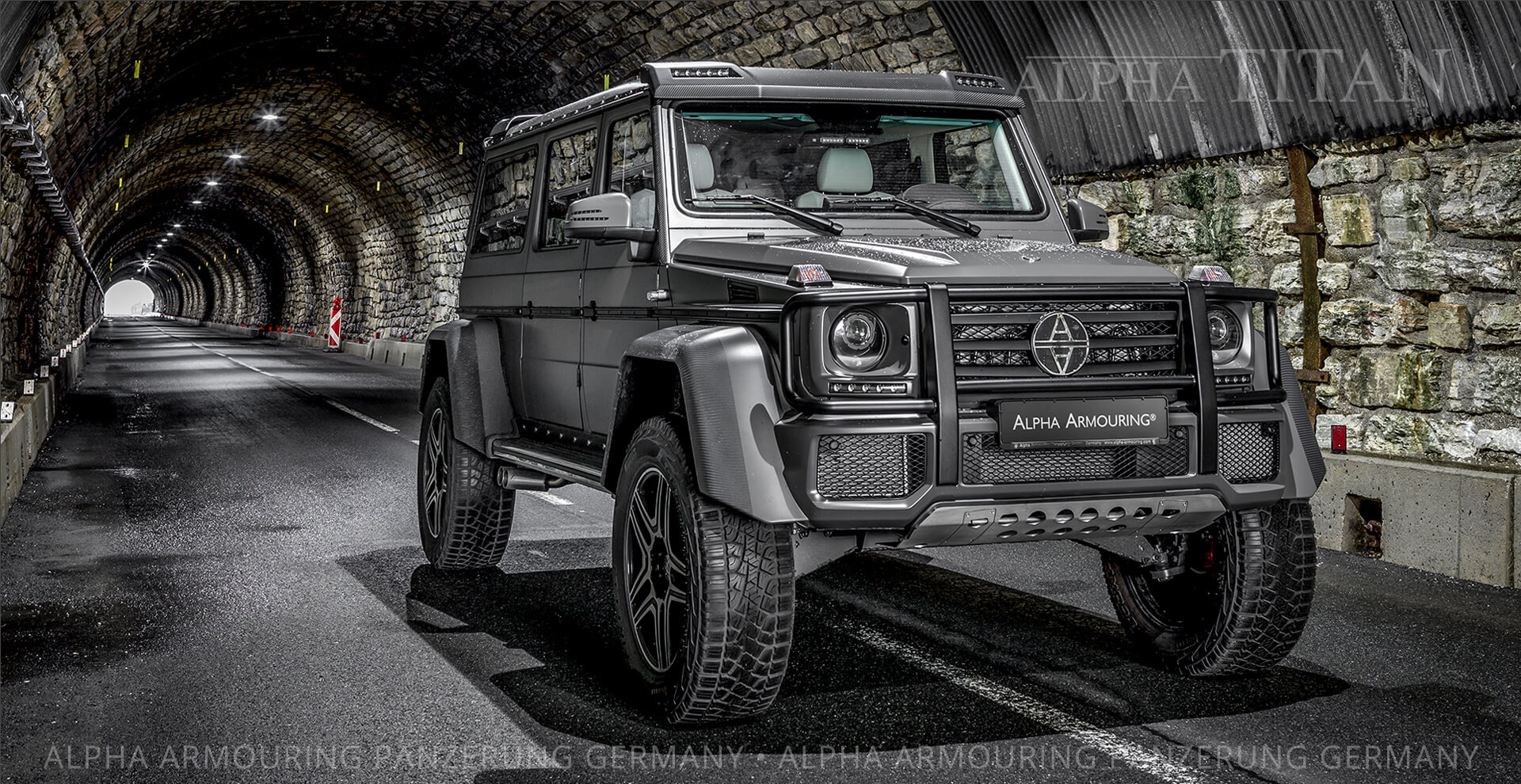 The new ALPHA TITAN the ultimate armoured luxury off-road limousine