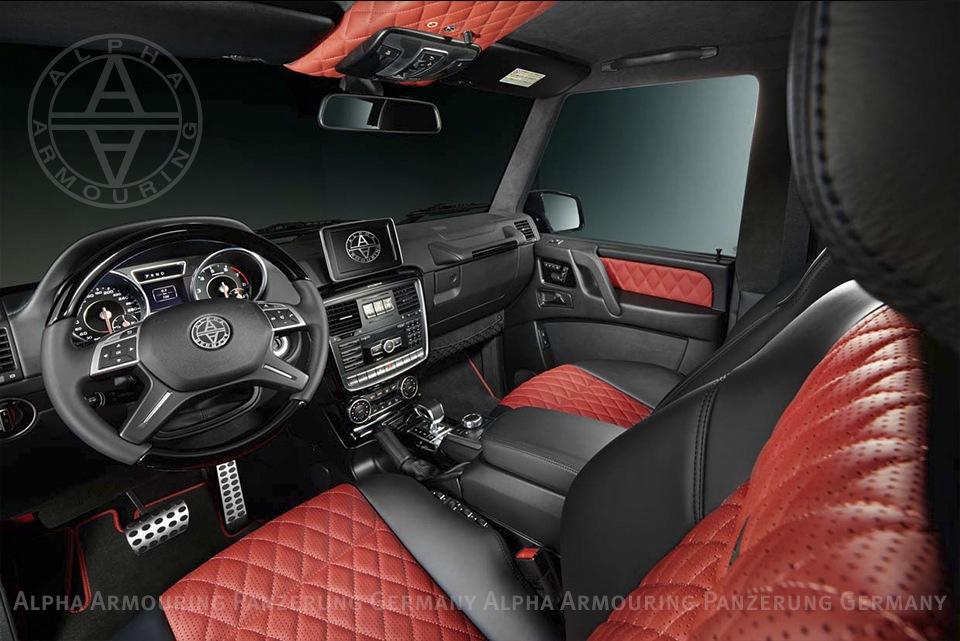 alpha armouring g wagon interior design black red iii - G Wagon Red Interior